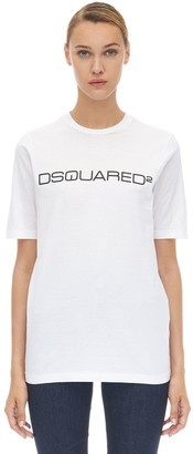 DSQUARED2 LOGO COTTON JERSEY T-SHIRT