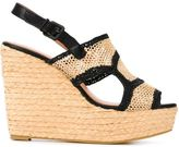 Robert Clergerie 'Drastic' wedge sandals - women - Raffia/Leather/rubber - 40
