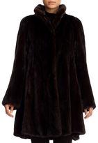 Gorski Mink-Fur A-Line Stroller Coat