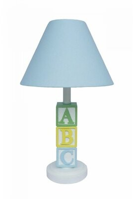 """Creative Motion ABC Character 16"""" Table Lamp Creative Motion Shade Color: Blue"""