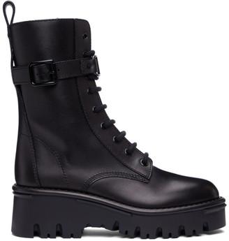Valentino Black Garavani Campsite Combat Boots