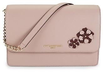 Karl Lagerfeld Paris Floral Leather Shoulder Bag