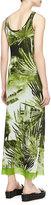 Jean Paul Gaultier Long Fern-Print Tank Dress, Green