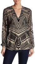 Hale Bob Embellished Velvet Silk-Blend Tunic