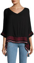 Democracy Embroidered Dolman Top