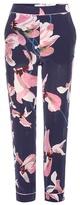 Erdem Giulia Printed Silk Trousers