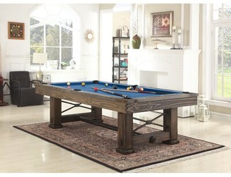 "Playcraft Rio Grande Slate Pool Table Felt Color: Academy Blue, Size: 33"" H x 51"" W x 89"" D, Finish: Weathered Bark"