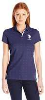 U.S. Polo Assn. Juniors' Dot Print Pique Polo Shirt