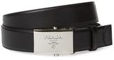 Prada Saffiano Leather Buckle Belt