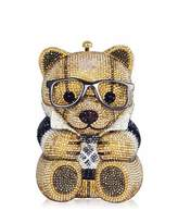 Judith Leiber Couture Spencer Teddy Bear Evening Clutch Bag, Brown/Gold