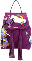 Marc Jacobs patched zip backpack - women - Suede - One Size