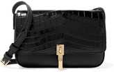 Elizabeth and James Cynnie Micro Croc-effect Leather Shoulder Bag - Black