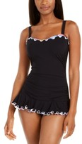 Gottex Tricolore Ruffled Underwire Swimdress, Created for Macy's Women's Swimsuit