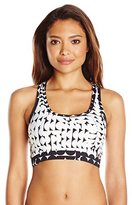 Calvin Klein Women's Cresent Geo Sporty Racerback Bikini Top with Mesh Panel
