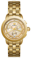 Tory Burch Tory Chronograph Stainless Steel & Mother-Of-Pearl Bracelet Watch