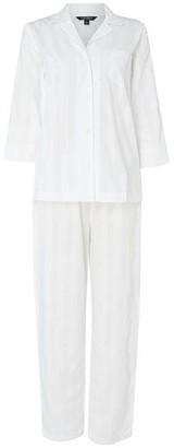 Lauren Ralph Lauren Bodywear Pocket Logo three quarter Pyjama Set