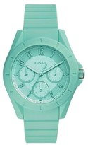 Fossil Women's Poptastic Silicone Strap Watch, 38Mm