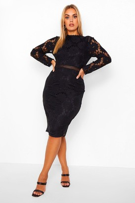 boohoo Plus Lace Midi Dress