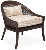 One Kings Lane Biloxi Cane Accent Chair - Taupe Zebra