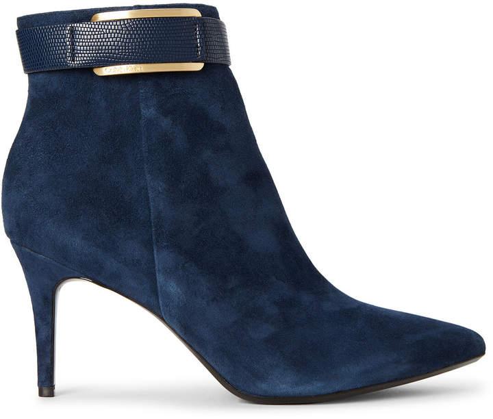 fashion design crazy price super specials Dark Navy Georgene Suede Ankle Booties