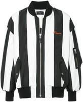 G.V.G.V. embroidered striped bomber jacket