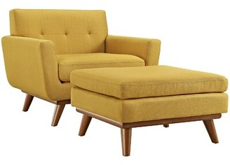Langley StreetTM Johnston Club Chair and Ottoman Langley Street Fabric: Citrus