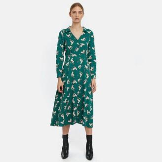 Compania Fantastica Animal Print Midi Dress