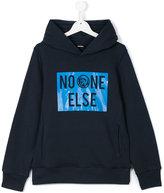 Diesel hooded print sweatshirt - kids - Cotton - 16 yrs
