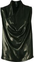 Zero Maria Cornejo draped front blouse - women - Polyester/Acetate/Viscose - 6