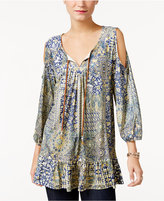 Style&Co. Style & Co. Cold-Shoulder Peasant Top, Only at Macy's