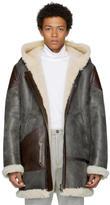 Acne Studios Black Shearling Lava Pilot Jacket