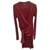 Fendi Burgundy Silk Dress