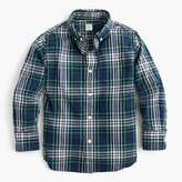 J.Crew Kids' Secret Wash shirt in classic blue plaid