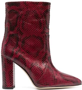 Paris Texas Snakeskin Effect 100mm Boots