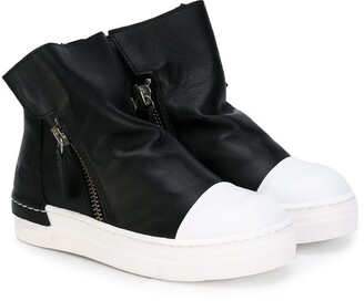 Cinzia Araia Kids Zipped Detail Ankle Boots
