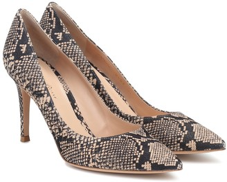 Gianvito Rossi Gianvito 85 snake-effect pumps