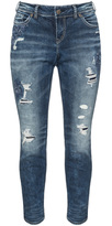 Silver Jeans Plus Size Suki distressed slim fit jeans