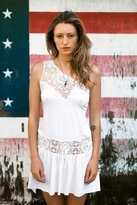 Nightcap Clothing Crochet Flirtini Dress in White