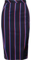 Altuzarra Striped Wool And Cotton-Blend Skirt