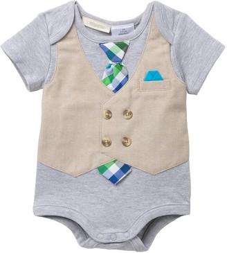 Miniclasix Tie & Vest Bodysuit (Baby Boys)
