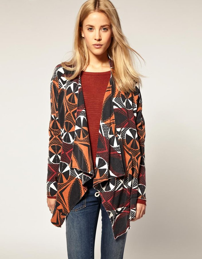Free People Ikat Print Cardigan