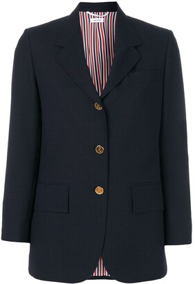 Thom Browne Wide-Lapel Single-Breasted Blazer