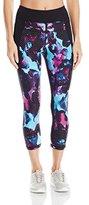 Calvin Klein Women's Digital Rose Print Crop Legging