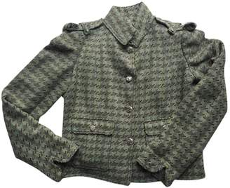 Chanel Green Cotton Jacket for Women