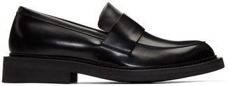 Bottega Veneta Black Rubber Sole Loafers
