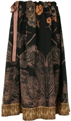 Pierre Louis Mascia Tapestry-Print Skirt