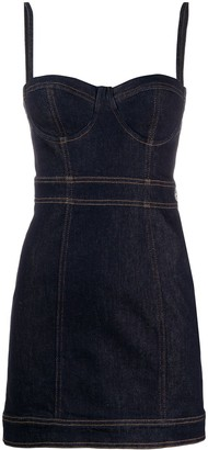 Just Cavalli Fitted Denim Dress
