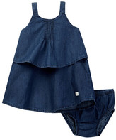 7 For All Mankind Pintuck Dress & Bloomer Set (Baby Girls)
