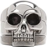 Alexander McQueen Silver Divided Skull Ring Set
