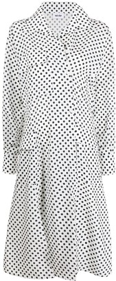 Each X Other Multi-Pocket Polka-Dot Shirt Dress